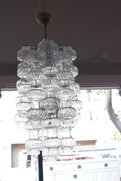 Mid-20th Century Italian Glass Chandelier by Vetreria Murano For Sale