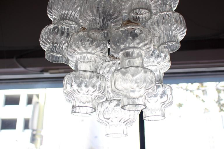 Mid-Century Modern Italian Glass Chandelier by Vetreria Murano For Sale