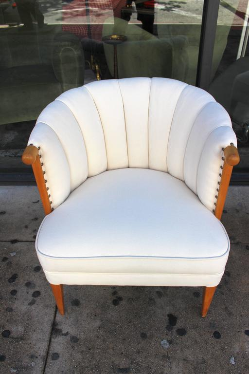 Hollywood Regency Channel Back Chairs At 1stdibs