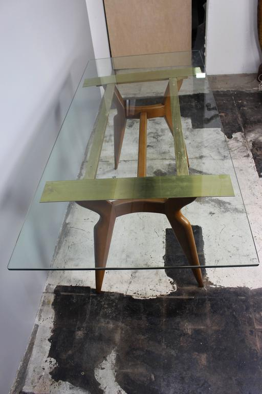 Mid-20th Century Italian Dining Room Table in Style of Gio Ponti For Sale
