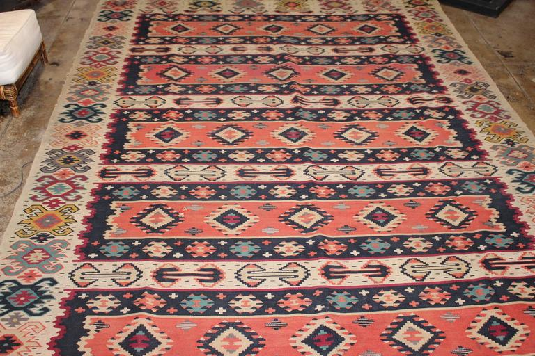 Sharkoy antique Kilim from Balkan, circa 1900s.