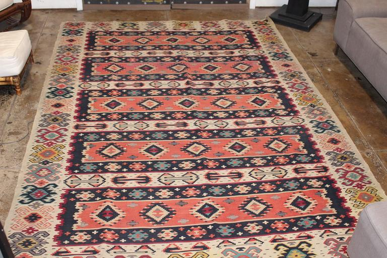 Turkish Kilim from Balkan In Excellent Condition For Sale In Los Angeles, CA
