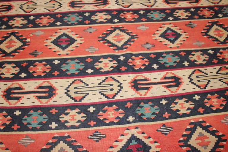 Early 20th Century Turkish Kilim from Balkan For Sale