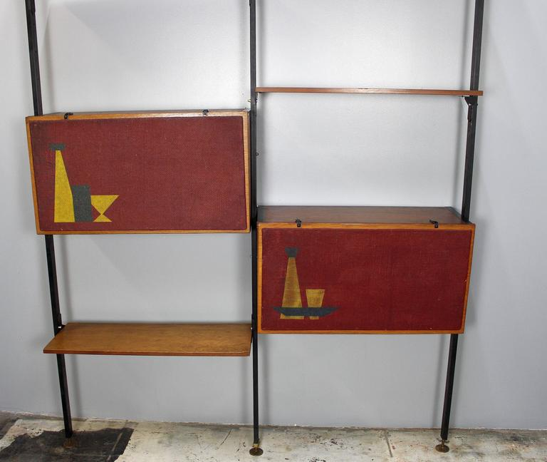 Mid-Century Modern Italian Mid-Century Large Bookcase in Style of Franco Albini For Sale