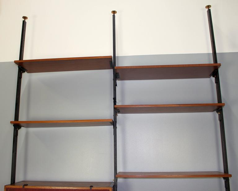 Italian Mid-Century Large Bookcase in Style of Franco Albini 4