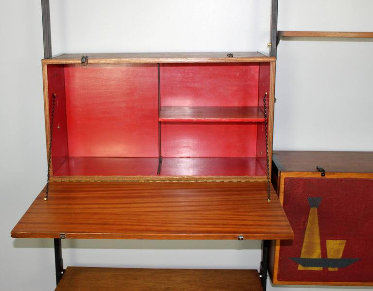 Mid-20th Century Italian Mid-Century Large Bookcase in Style of Franco Albini For Sale