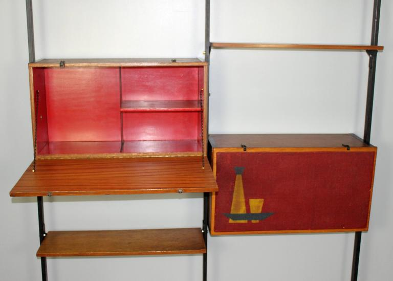 Italian Mid-Century Large Bookcase in Style of Franco Albini For Sale 2