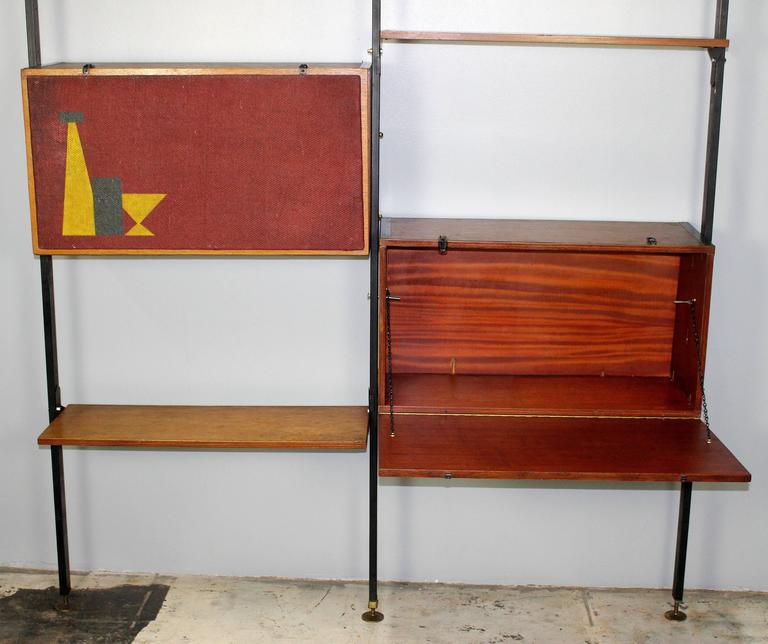 Italian Mid-Century Large Bookcase in Style of Franco Albini For Sale 3