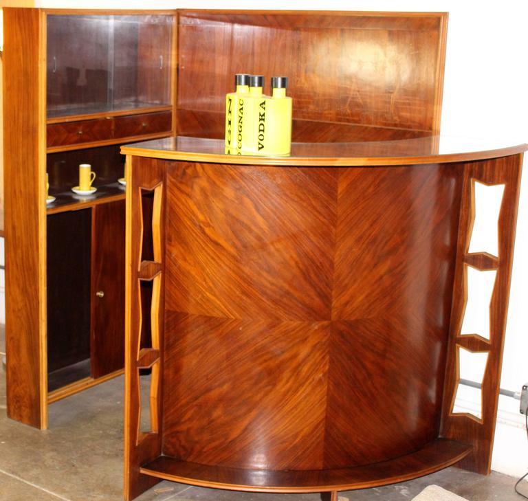 Mid-Century Modern Italian Midcentury Dry Bar Buy Maritian Tagnin For Sale