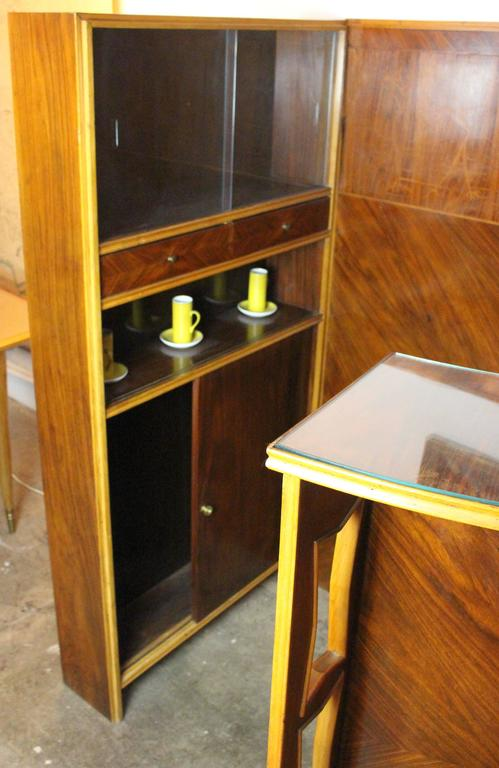 Italian Midcentury Dry Bar Buy Maritian Tagnin In Excellent Condition For Sale In Los Angeles, CA