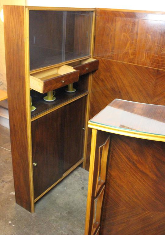 Mid-20th Century Italian Midcentury Dry Bar Buy Maritian Tagnin For Sale