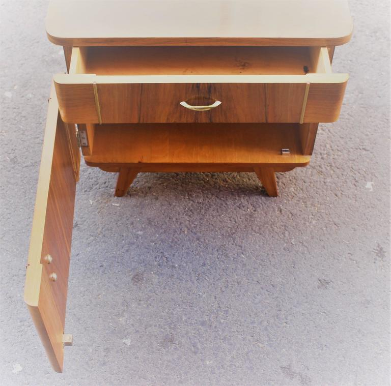 Austrian Deco Pair of Veneer Nightstands For Sale 1