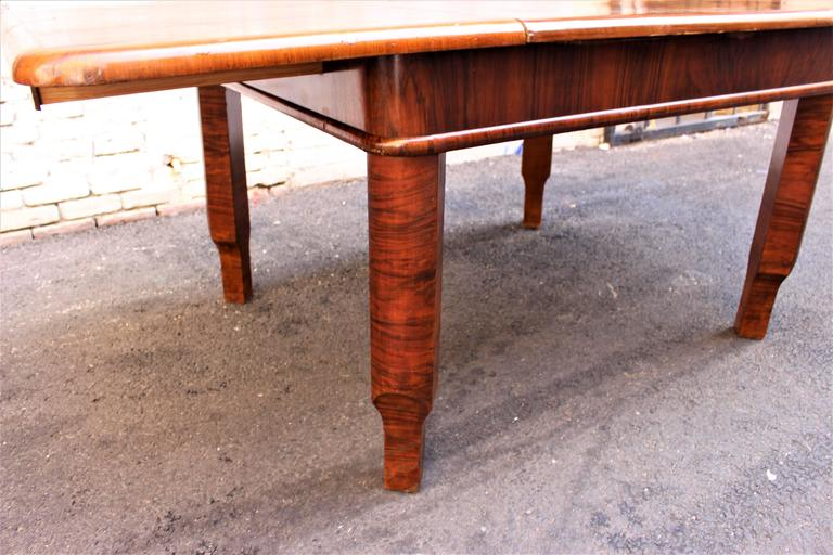 French Art Deco Table with Butterfly Leaf Mehanizam 3