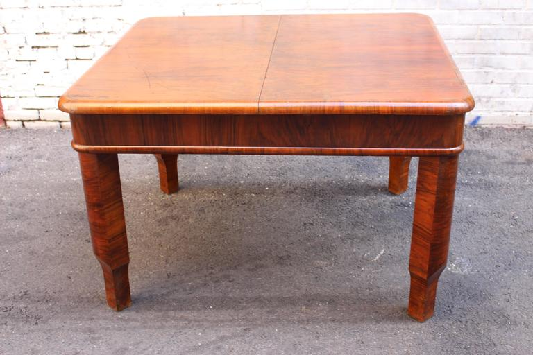 French Art Deco Table with Butterfly Leaf Mehanizam 4