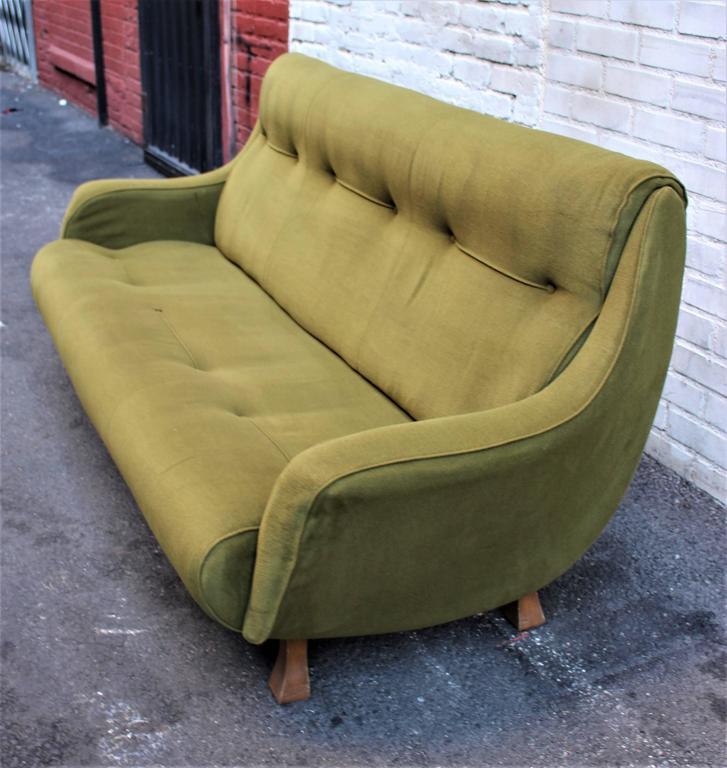 Italian sofa three seats, from the Bolzano club. Original upholstery.