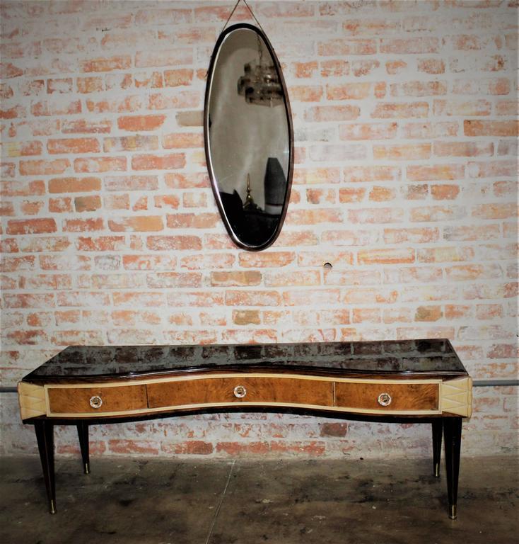 Mid-Century Modern Italian Vanity, Style of Paolo Buffa For Sale