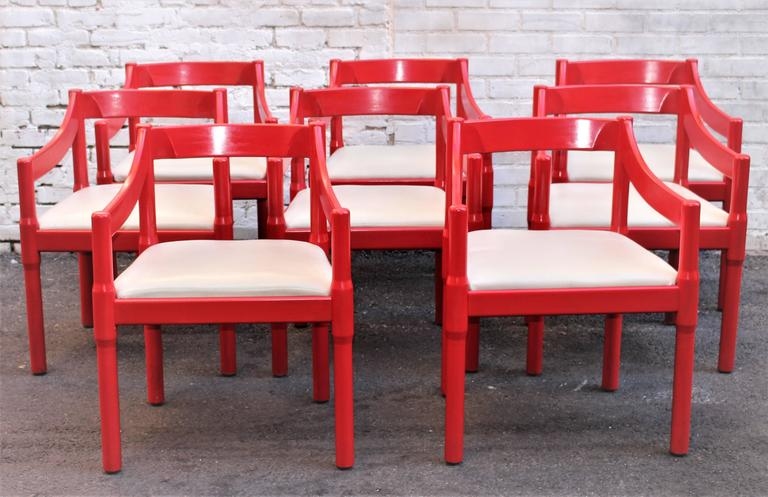 Italian Set of Eight Chairs by Vico Magistretti  4