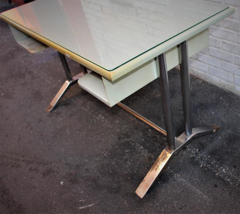 Mid-Century Modern Poli Metal Desk For Sale