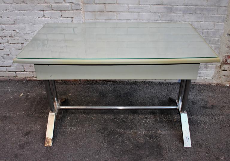 Italian Poli Metal Desk For Sale