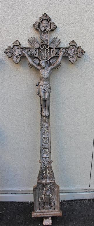 French Belle Epoque Castiron Large Crosses For Sale 1