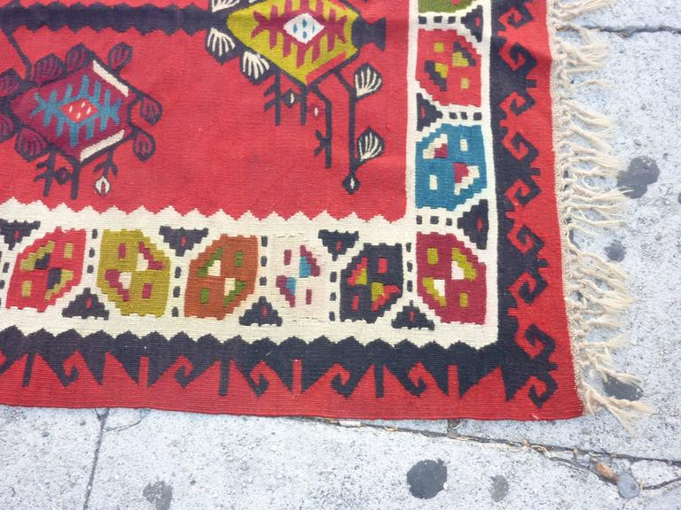 Balkan Sharkoy Kilim in original condition.