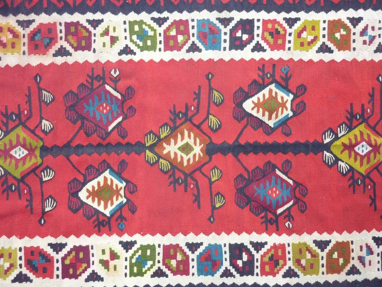 Prayer Sharkoy Kilim from Balkan In Good Condition For Sale In Los Angeles, CA
