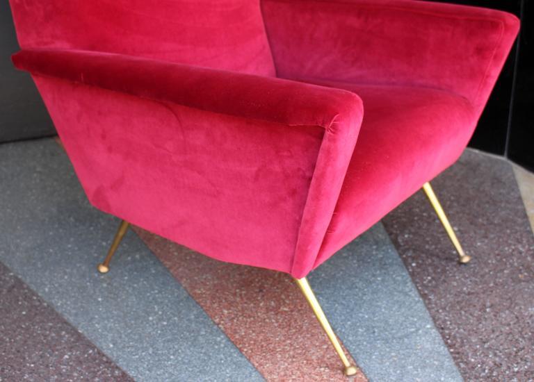 Mid-Century Modern Italian Armchair, 1950s For Sale