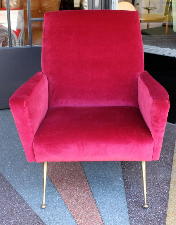 Italian Armchair, 1950s In Excellent Condition For Sale In Los Angeles, CA