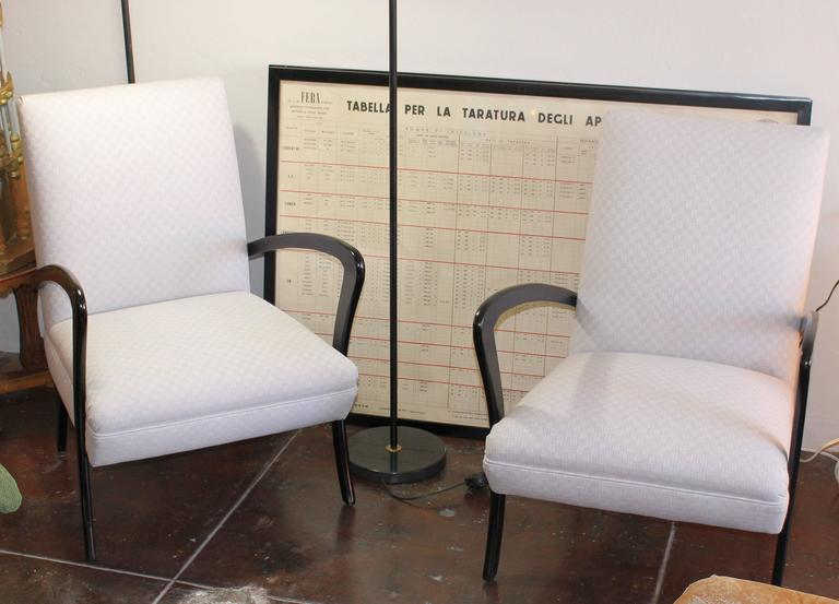 Mid-20th Century Italian Chairs in Style of Paolo Buffa For Sale