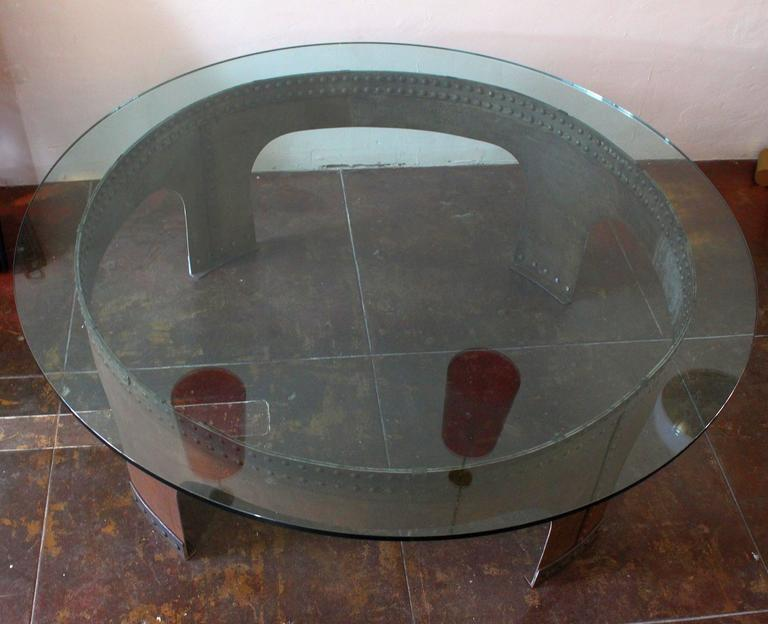 Mid-Century Modern Italian Round Conference Table by Gimo Fero For Sale
