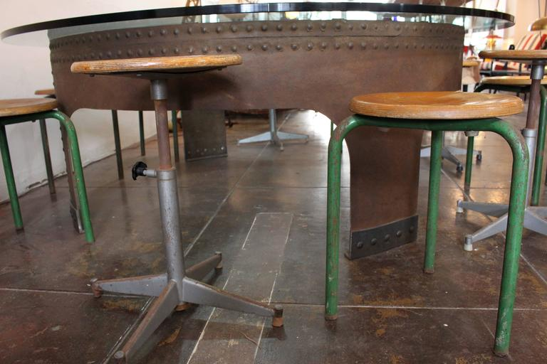Late 20th Century Italian Round Conference Table by Gimo Fero For Sale