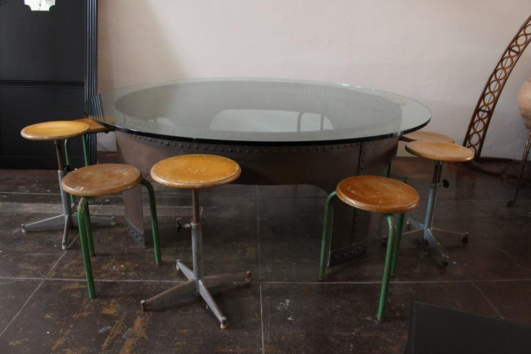 Italian Round Conference Table by Gimo Fero For Sale 2