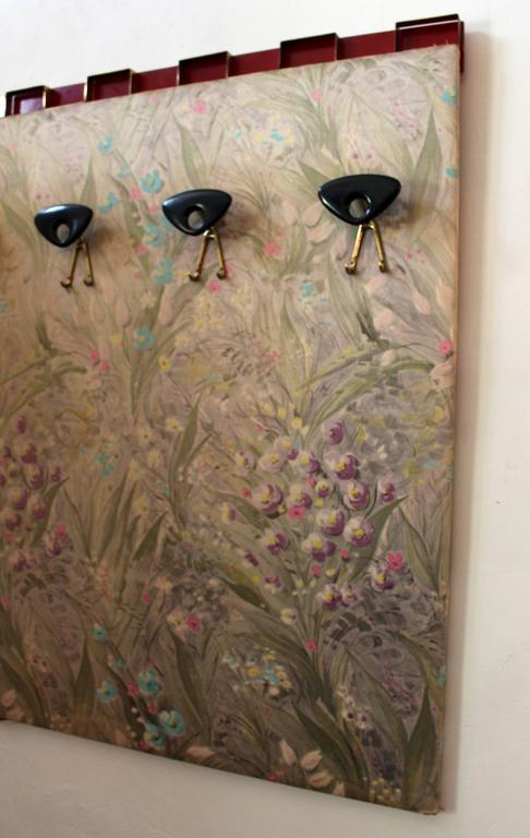 1950s, Italian wall coat rack from the Excelsior hotel in Trieste.