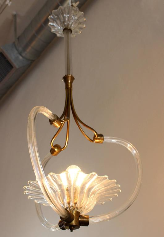Beautiful Murano Art Deco Italian chandelier.