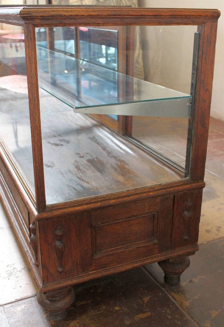 American Antique Glass Case by Grand Rapid Store Equipment For Sale