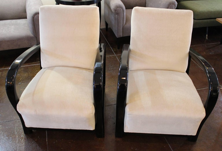 French Art Deco Club Chairs In Excellent Condition For Sale In Los Angeles, CA