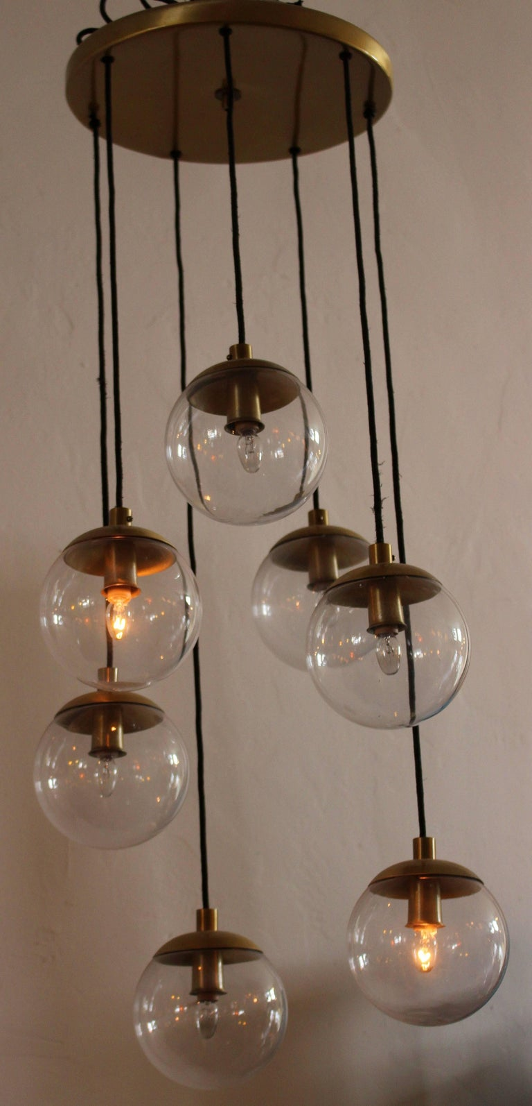 Mid-20th Century RAAK Cascade Chandelier For Sale