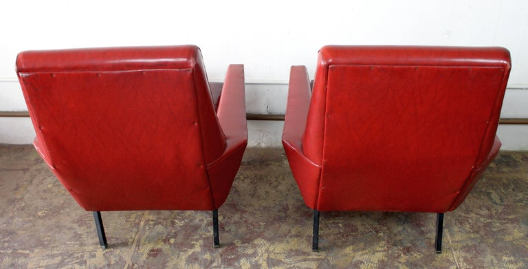 Italian, 1950s Lounge Chairs Attributed to Arflex-Meda In Good Condition For Sale In Los Angeles, CA