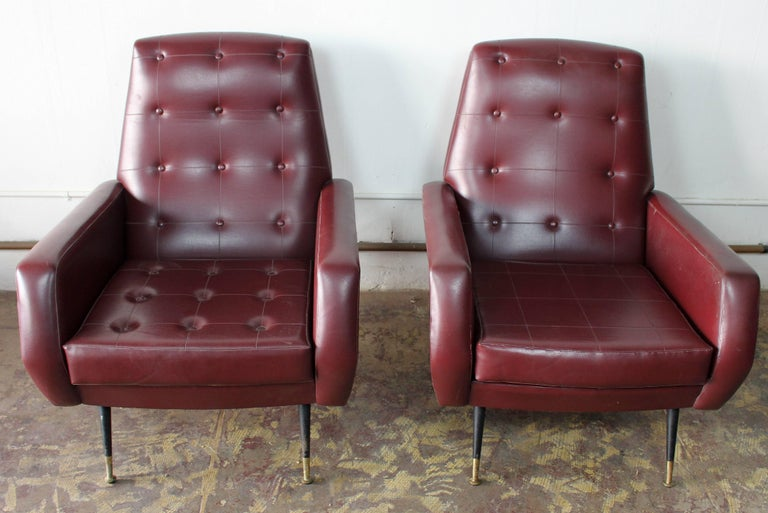 1950s pair of chairs essential Italian design 