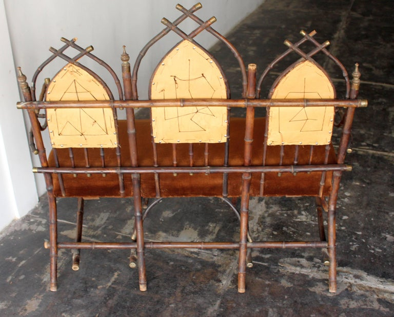 19th Century French Victorian Bamboo Dinning Room Set  For Sale