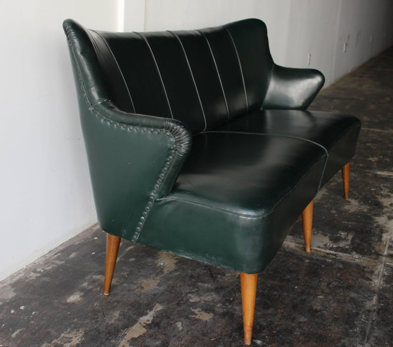 Danish two-seat settee attributed to Hans Olsen 