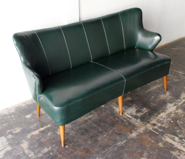 Mid-Century Modern Hans Olsen Attributed Two-Seat Settee For Sale