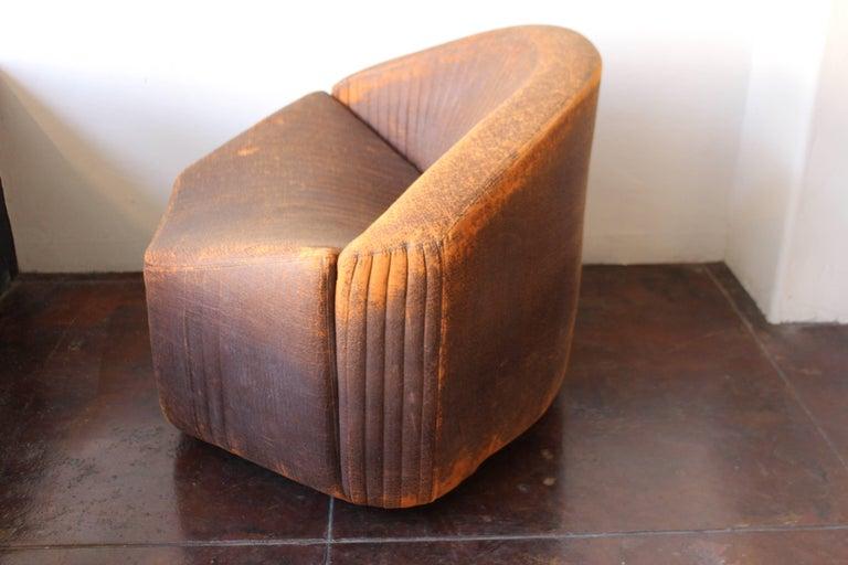 Polyurethane chair in original vintage condition by Saporiti.