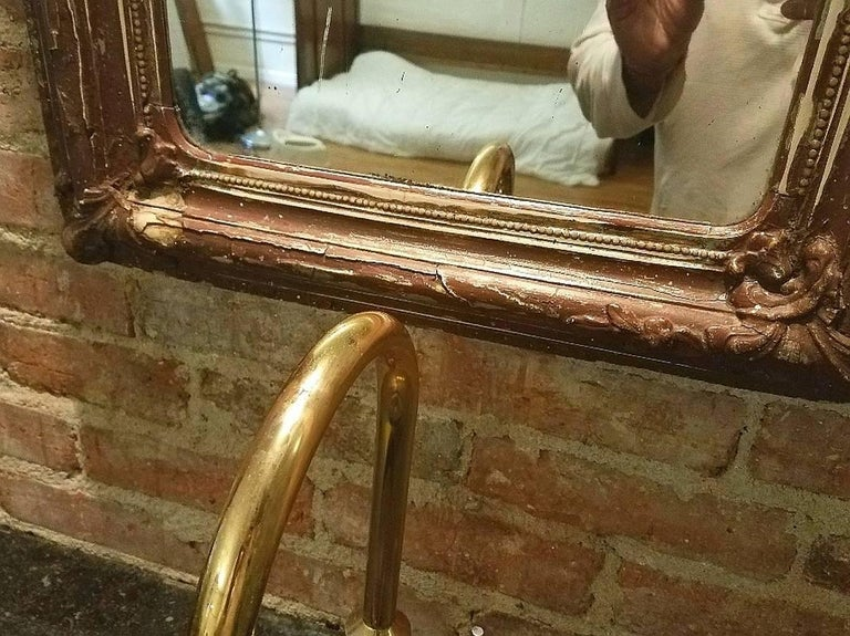 Early 20th Century Antique French Bathroom Sink and Mirror For Sale