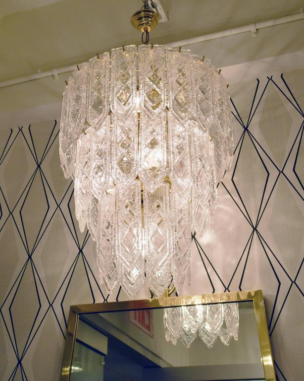 Pair of Venini Tiered Chandelier  2