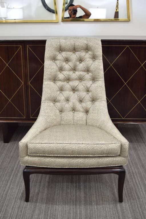 Pair of Tufted High Back Lounge Chairs 2