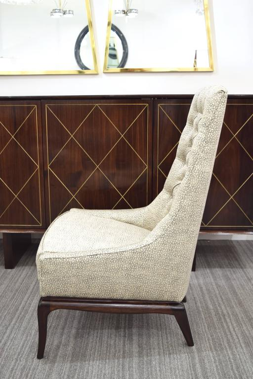 Pair of Tufted High Back Lounge Chairs 3