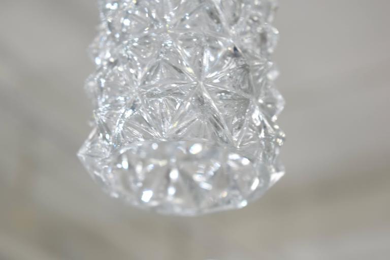 Art Glass Set of Five Austrian Pendants For Sale