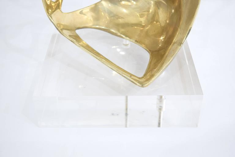 Brass and Lucite Abstract Sculpture 2