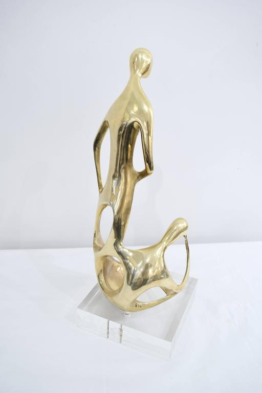 Brass and Lucite Abstract Sculpture 4